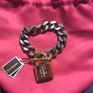 Juicy Couture Bracelet with Lock and JC  logo